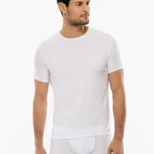 maglietta lovable man pure cotton girocollo bianca