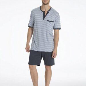Calida-Morris-Kurz-Pyjama-grau-41168-983